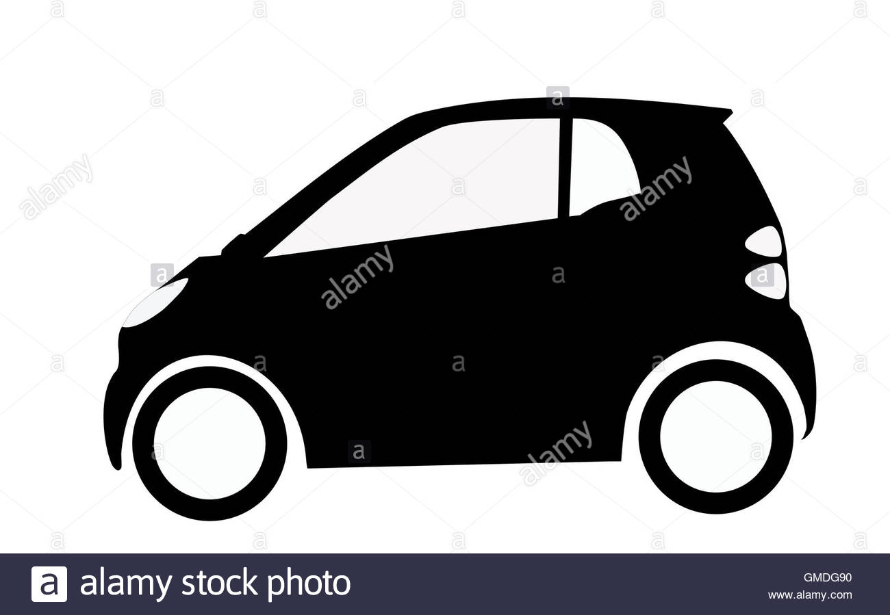 1300x899 Smart Car Silhouette Stock Photo 115853500