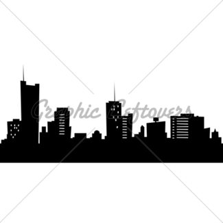 325x325 Cartoon Skyline Silhouette Of The City Of Rotterdam, Neth · GL