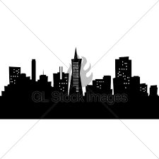 225x225 San Francisco City Skyline Silhouette Wall Art