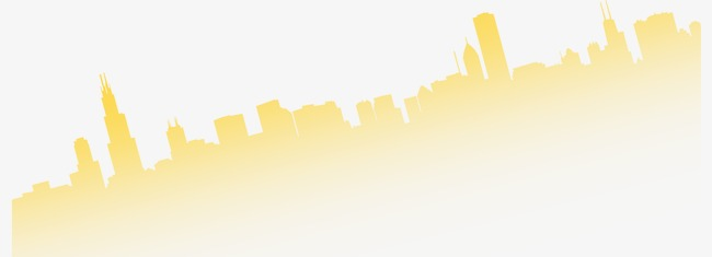 650x235 Beautiful exquisite cartoon city silhouette, Beautiful, Fine