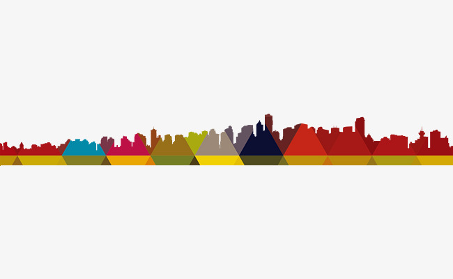 650x400 Cartoon City Silhouette, City, Architecture, Silhouette PNG Image