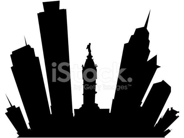 586x440 Cartoon Philadelphia Stock Vector