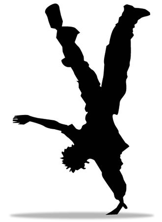 Cartoon Dancer Silhouette