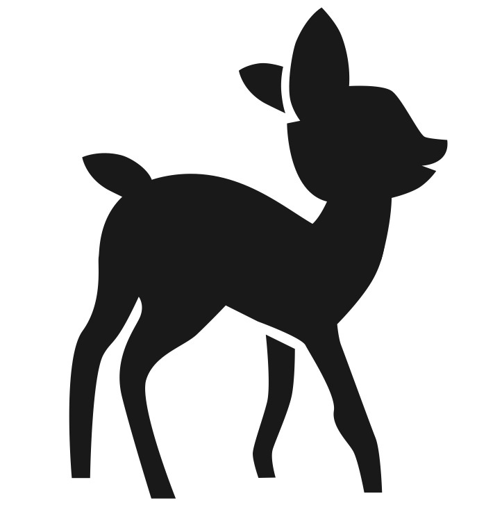 687x727 Free Baby Deer Silhouette, Hanslodge Clip Art Collection