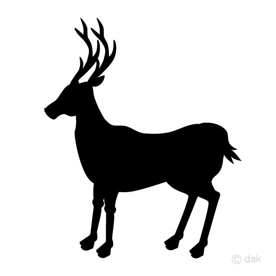540x540 Free Deer Silhouette Clip Art Seen From The Side