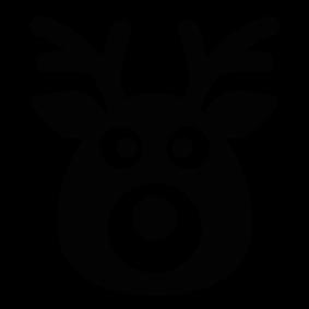 283x283 Reindeer Silhouette Silhouette Of Reindeer