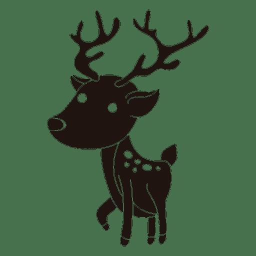 512x512 Reindeer Cartoon Silhouette Standing 22