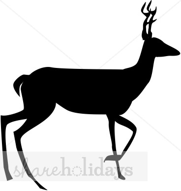 368x388 Deer Silhouette Reindeer Clipart