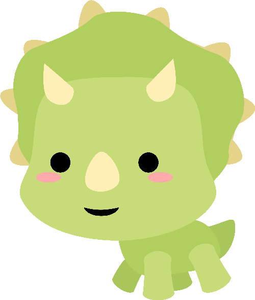 500x587 Chibi Triceratops Jaded Blossom May Camping Dinosaur Release
