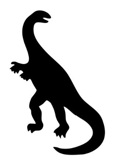 238x330 Dinosaur Silhouette 11 Decal Sticker