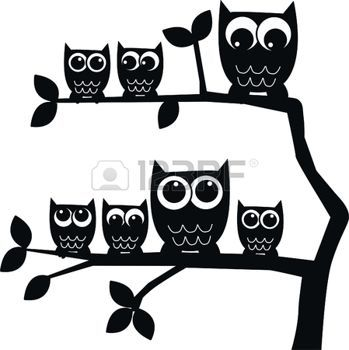 349x350 Owl Silhouettes Owl Family Owls Xyz, Owls For Stacy's Grand