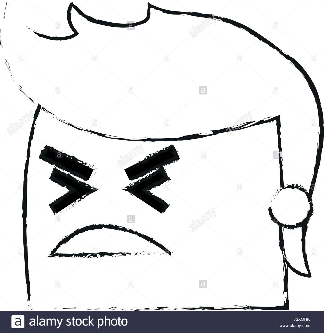 1300x1336 Blurred Silhouette Image Side View Face Cartoon Man With Angry
