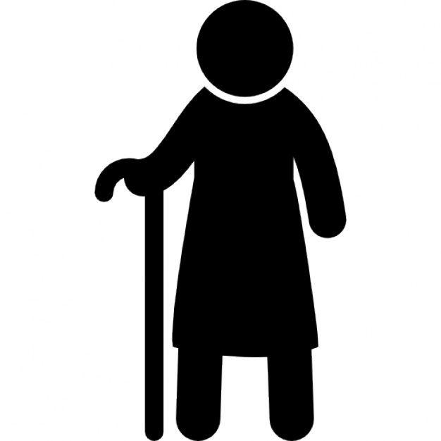 626x626 Standing Man Silhouette