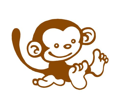 Cartoon Monkey Silhouette