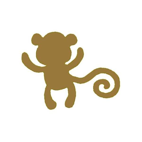 600x600 Cute Monkey Silhouette