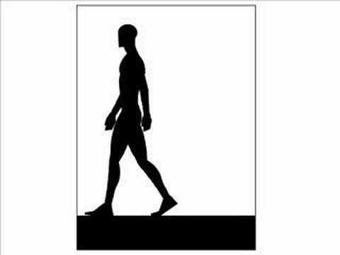 480x360 Walking Man (Jim Sweet) Animation Cartoon Rough Flip Pad