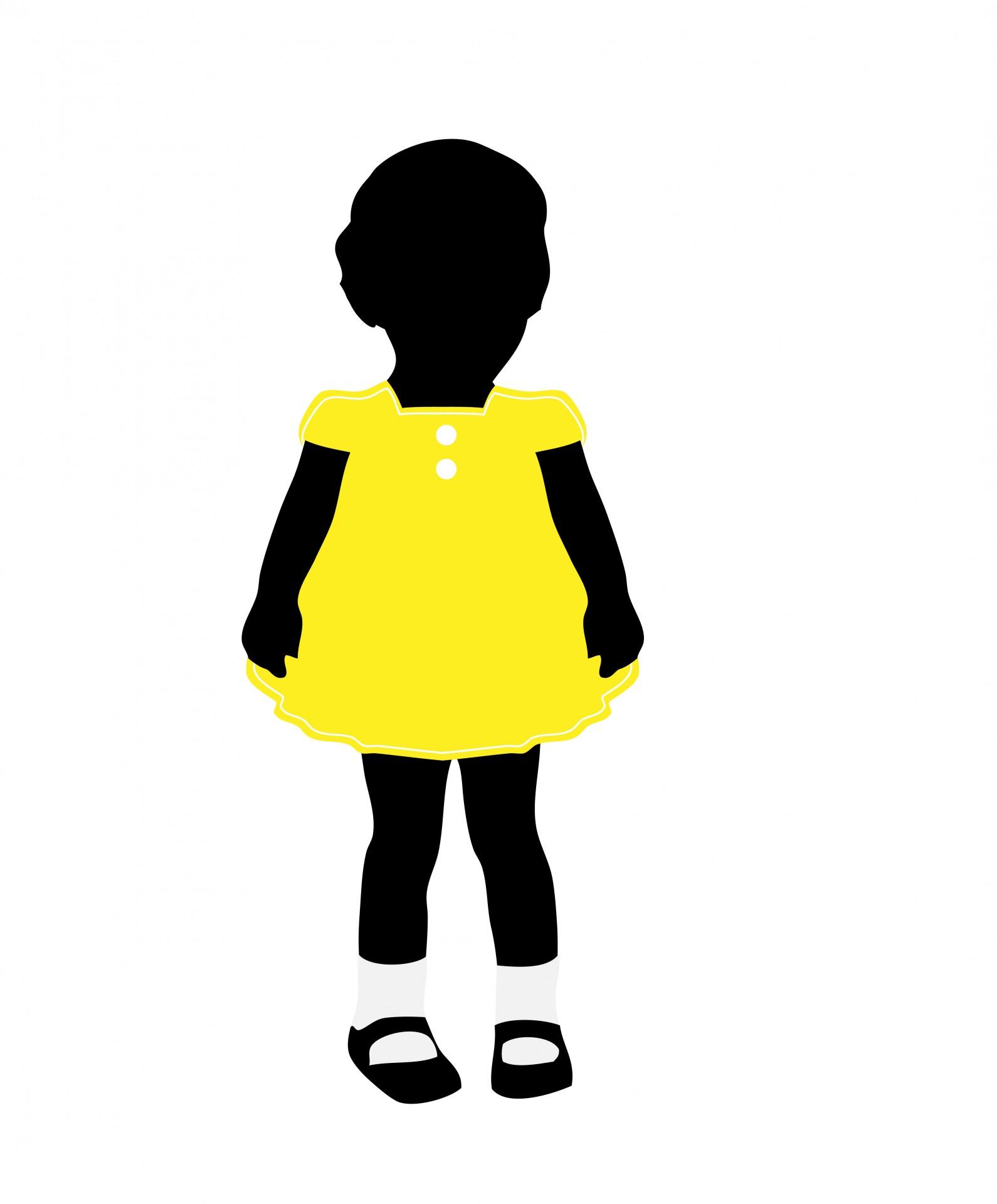 1590x1920 Child Black Silhouette Girl Free Stock Photo