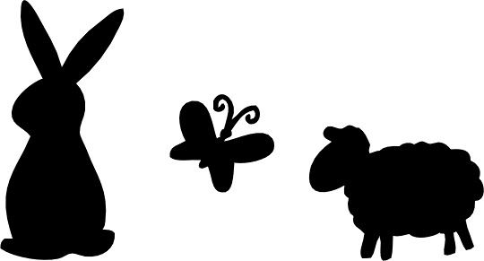 540x291 Easter silhouette2. To Print Animal Silhouette