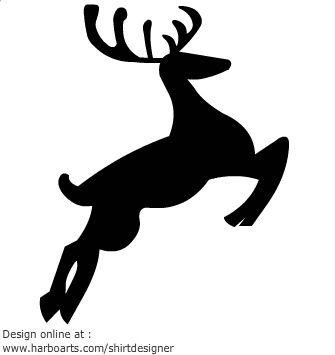 335x355 Reindeer Silhouette Jumping Diy