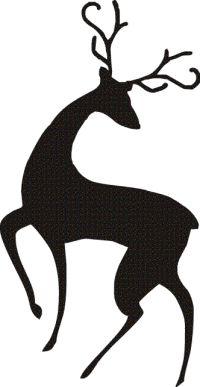 200x387 Cartoon Reindeer Head Clipart Black And White