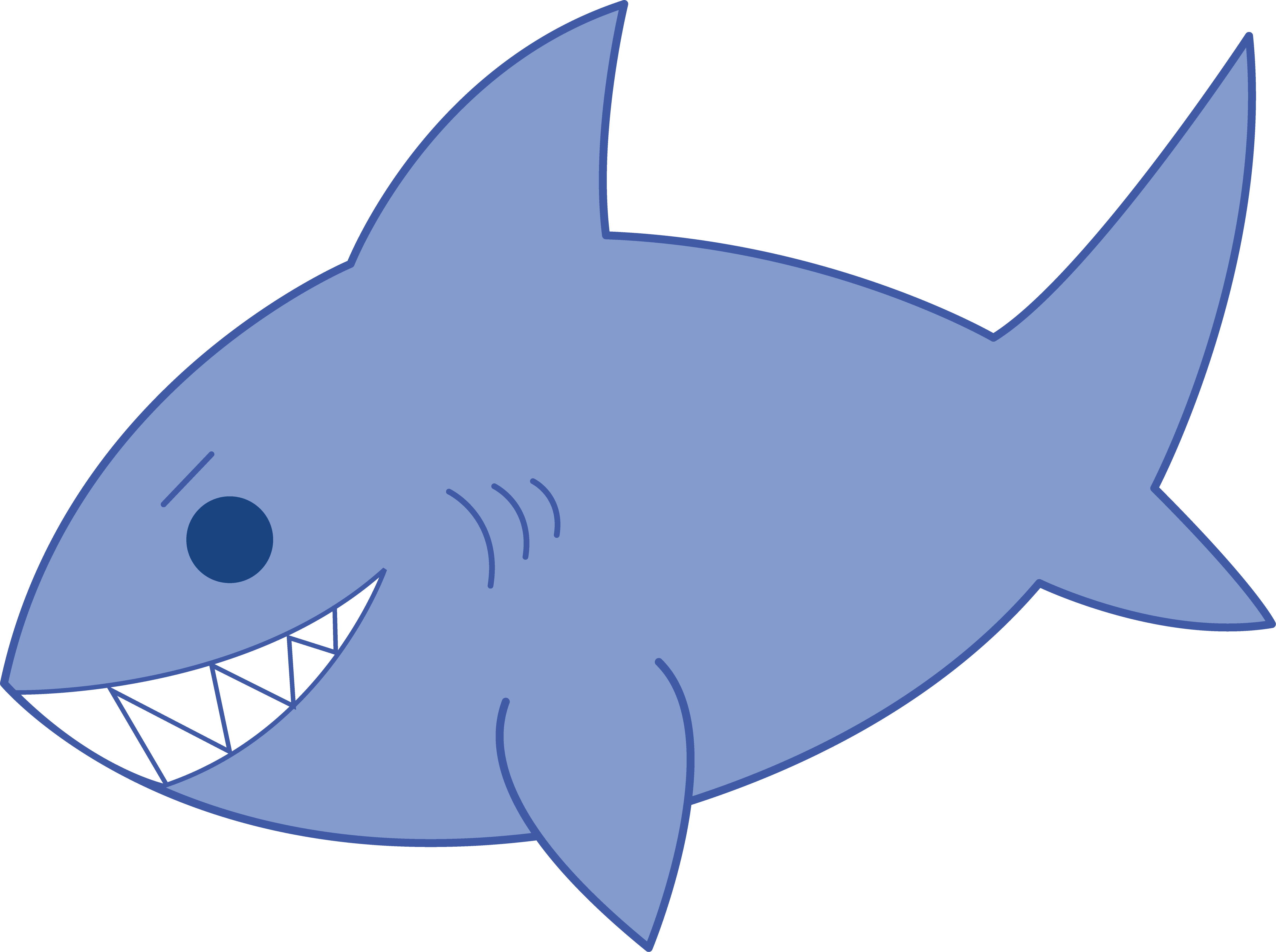 4663x3480 Free Cartoon Shark Clipart, Shark Outline And Shark Silhouette