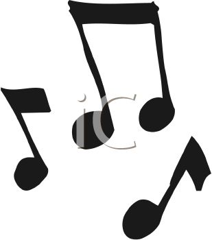 309x350 A Cartoon Silhouette Of Music Notes