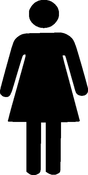 300x597 Female Silhouette Clip Art