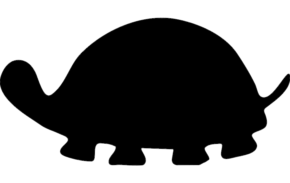 1002x633 Turtle Silhouette Dxf File Free Download