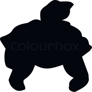 320x320 Cute Sea Turtle Cartoon Stock Vector Colourbox