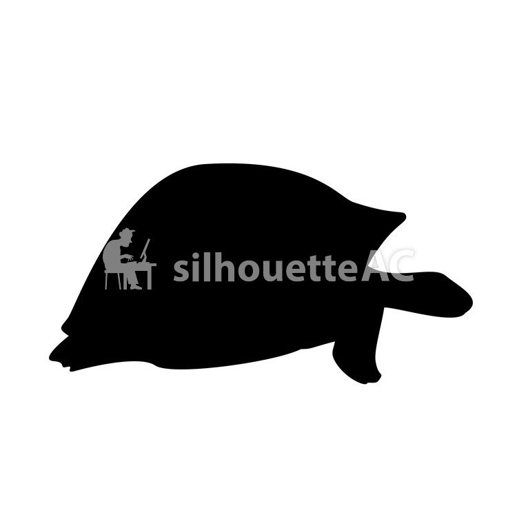 750x750 Free Silhouette Vector Enmity, Turtle, Icon