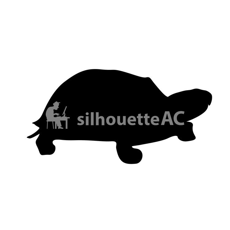 749x750 Free Silhouettes Turtle, An Illustration