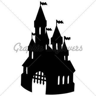 325x325 Castle On Hill Silhouette Gl Stock Images