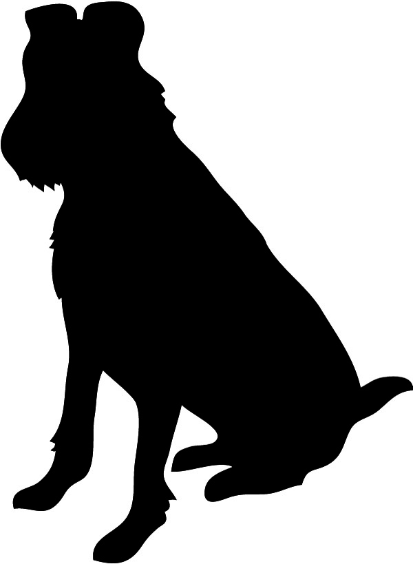 600x819 Dog Silhouette