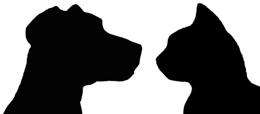 510x223 Photos Dog And Cat Outline,