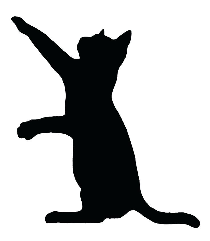 736x843 Cat Silhouette Outline Cat Silhouette Outline Cat And Dog Outline