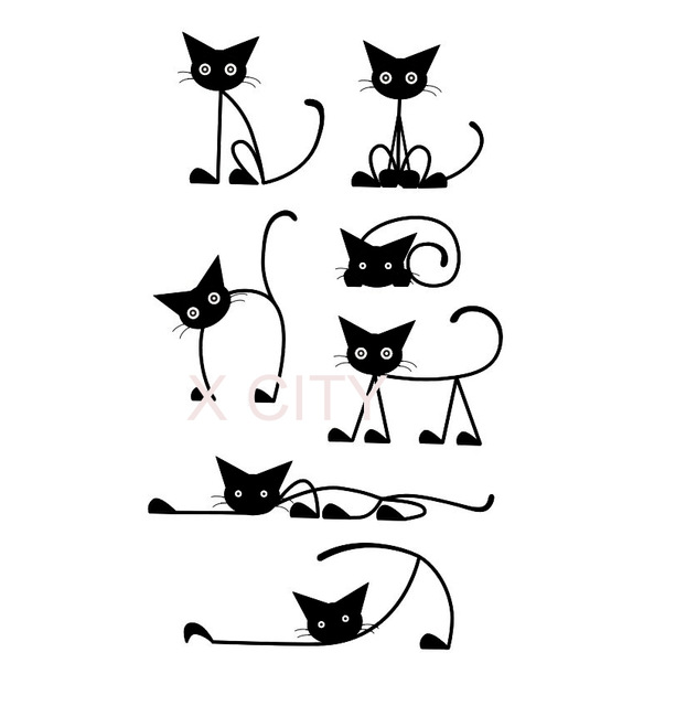Cat Cartoon Silhouette