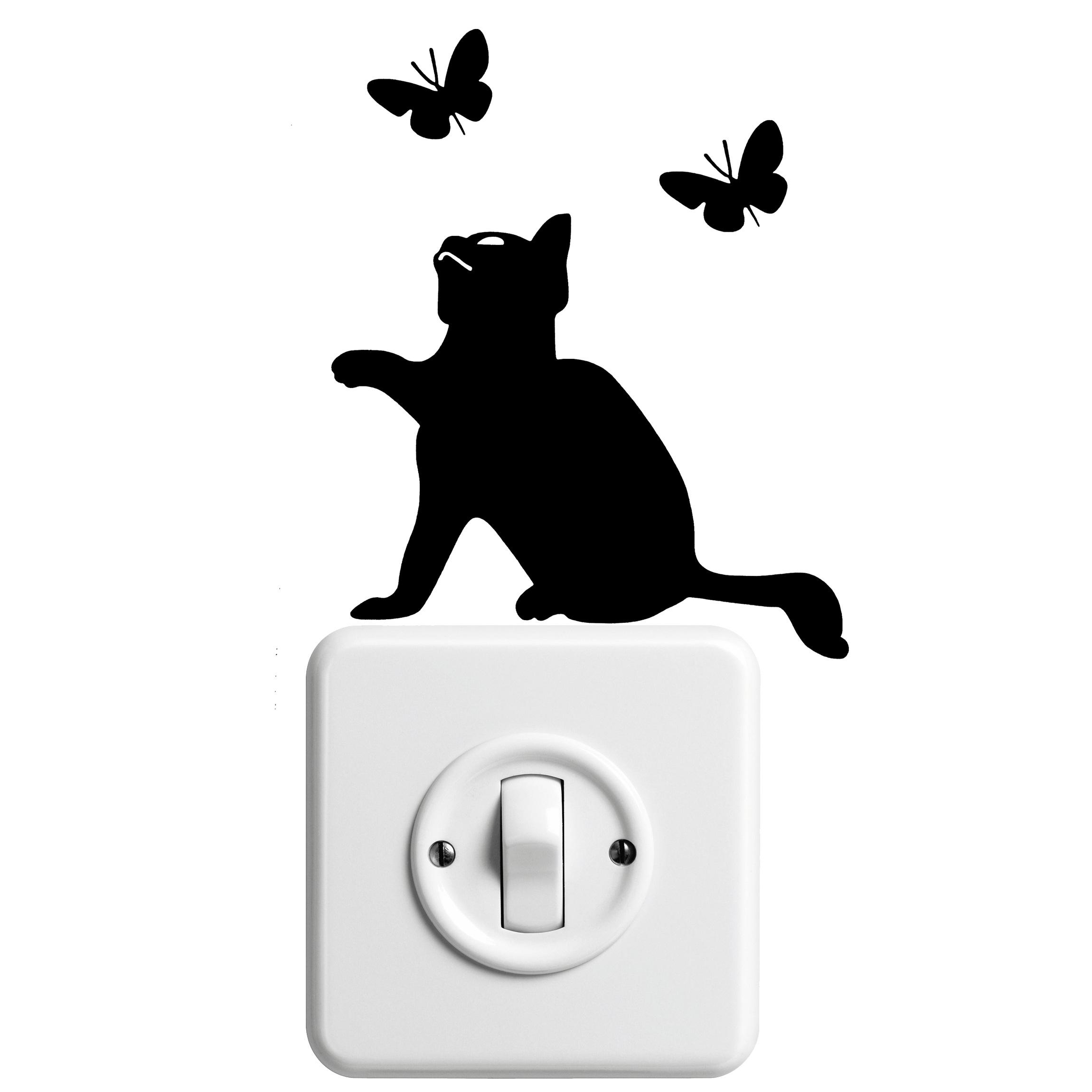 2300x2300 Free Images Silhouette, Pet, Portrait, Kitten, Black, Font