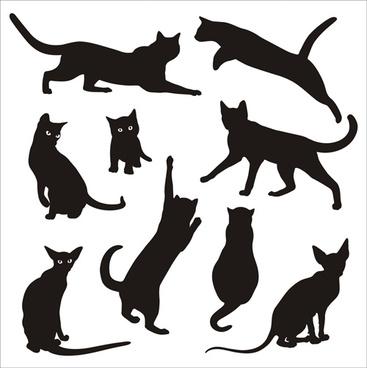 367x368 Vector Cartoon Cat Silhouette Free Vector Download (20,572 Free