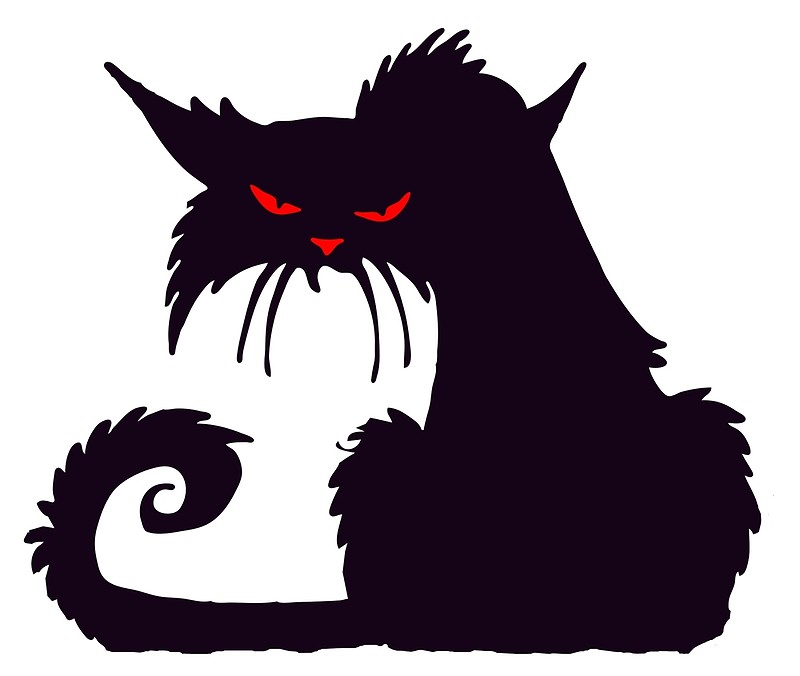 800x676 Cat, Cartoon, Grumpy Cat, Cat Lover, Silhouette, Moggy, Black Cat