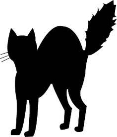 236x276 Halloween Cat Outline Clipart