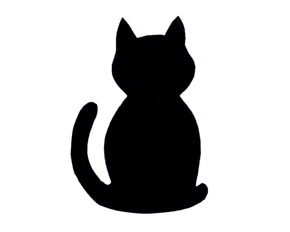 1000x800 Black Cat Silhouette Template