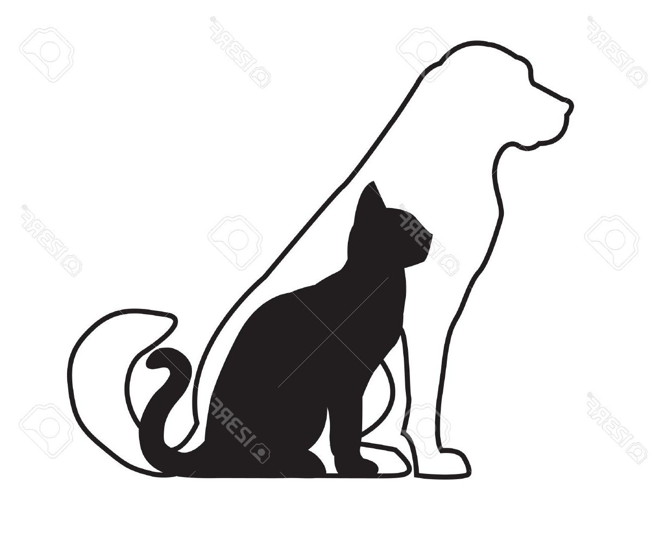 1300x1087 Best Cat And Dog Outline Silhouette Pictures Free Clip Art