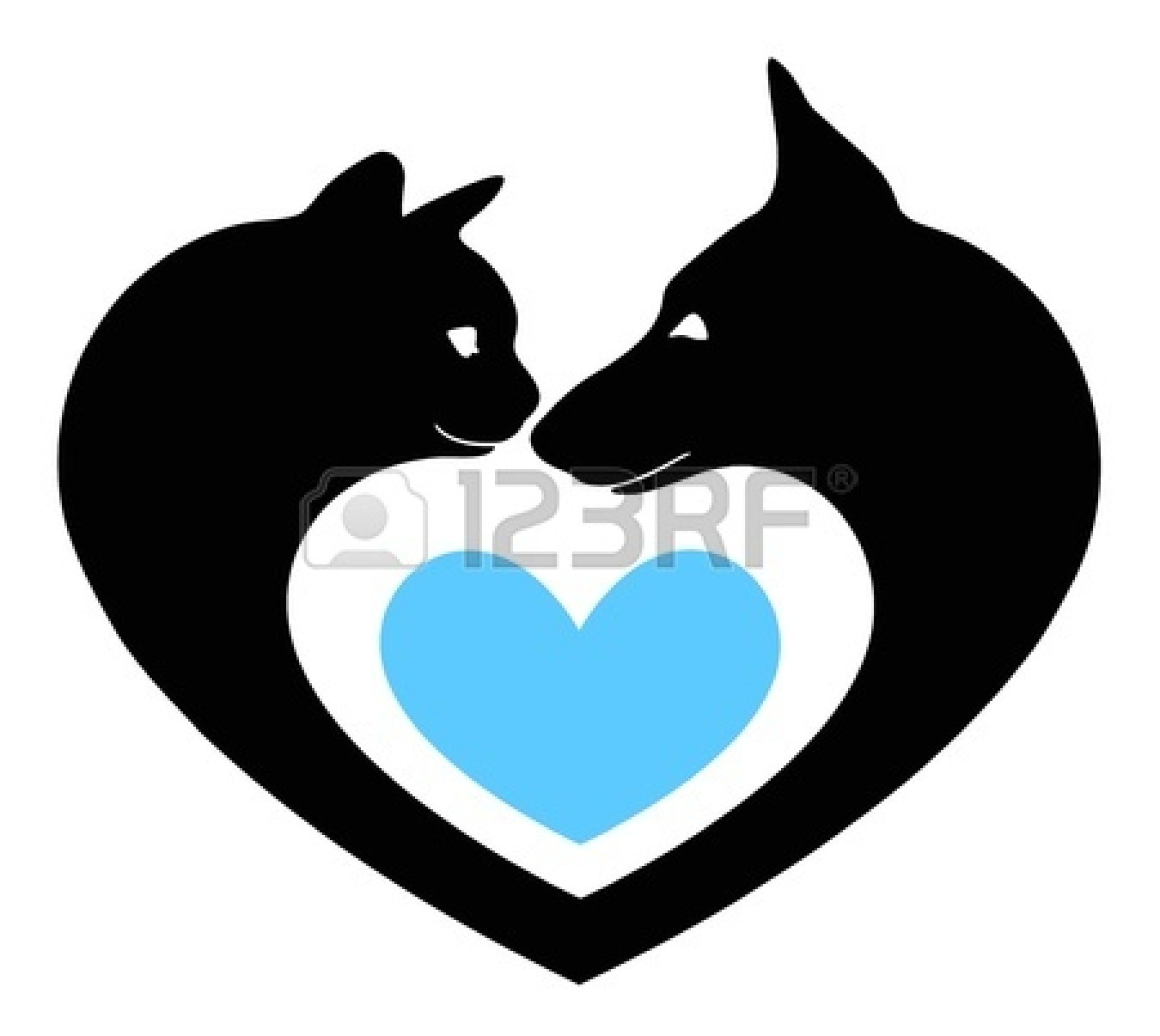 1350x1206 Love Clipart Cat And Dog