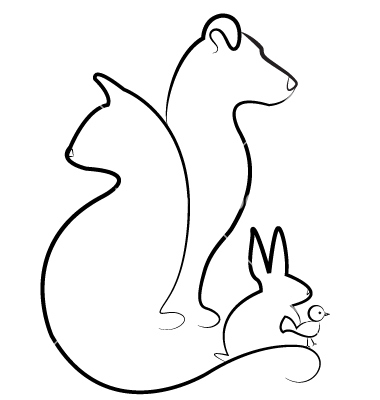 380x400 Cat Dog Rabbit And Bird Silhouettes Logo Vector 1098503