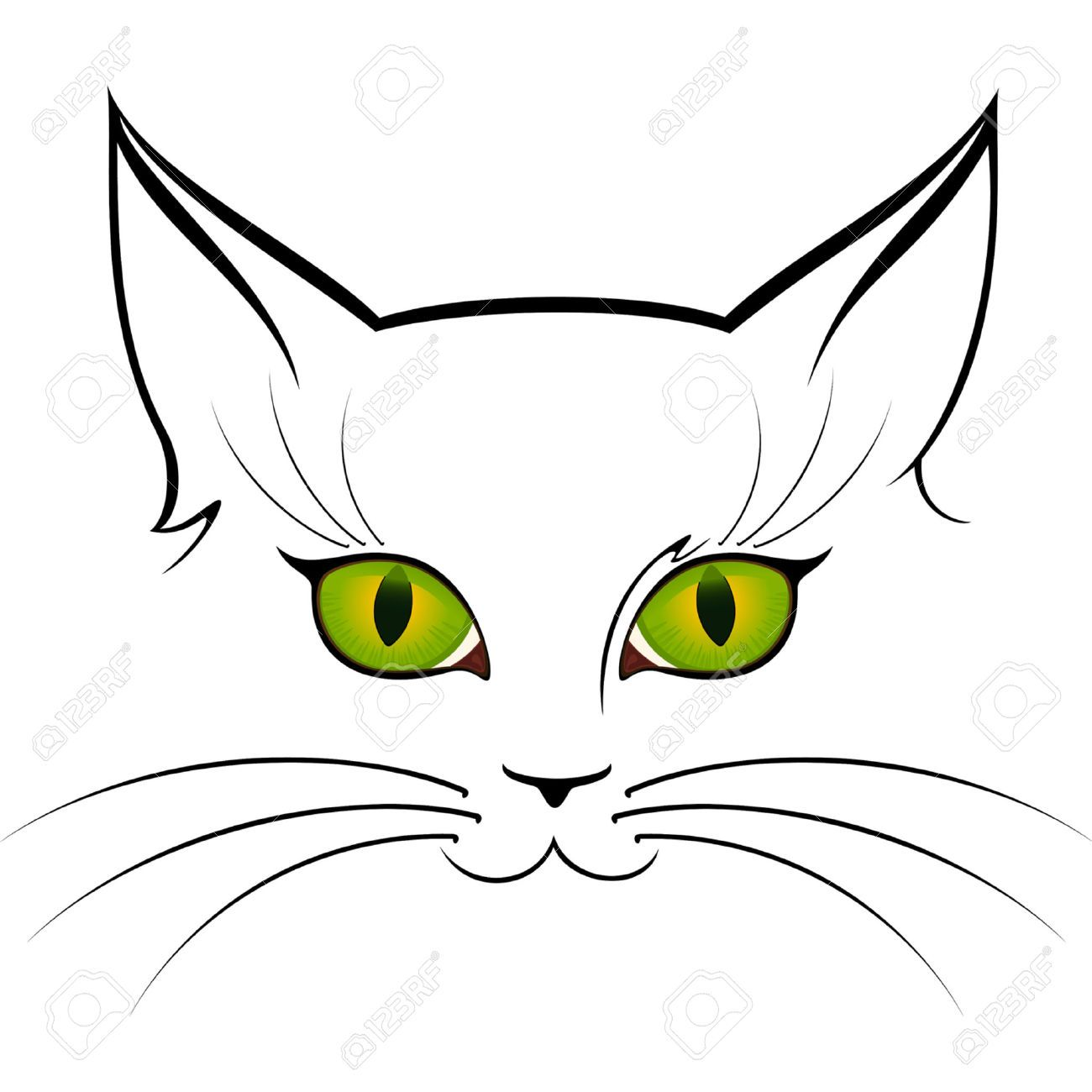 1300x1300 Cat Eyes Royalty Free Cliparts, Vectors, And Stock Illustration