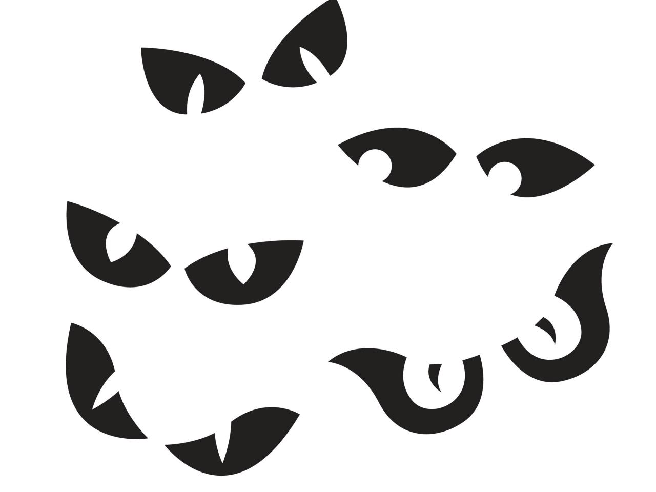1280x960 22 Images Of Cat Template Halloween Eyes