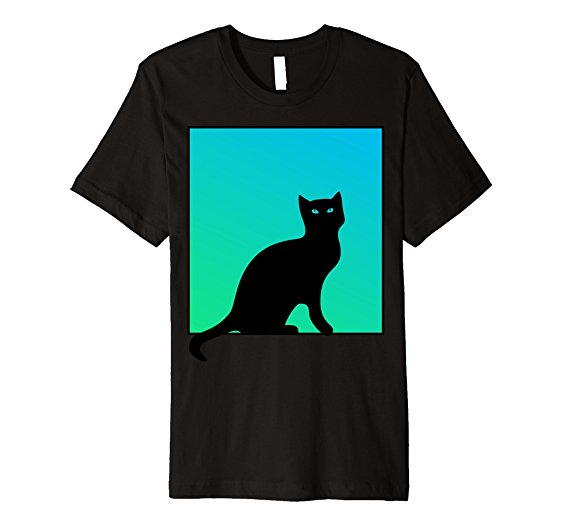 562x526 Black Cat Eyes Silhouette T Shirt