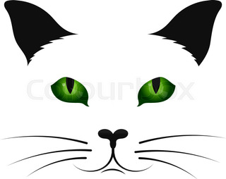 320x254 Black Cat Silhouette For Your Design Stock Vector Colourbox