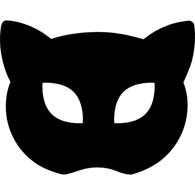 626x626 Carnival Mask Silhouette Like Cat Face Icons Free Download