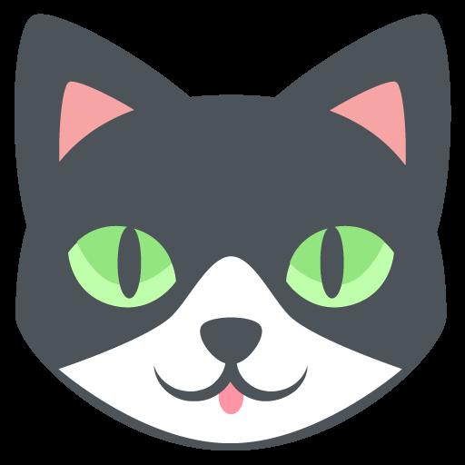 512x512 Cat Face Emoji Vector Icon Free Download Vector Logos Art